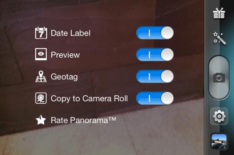 Opciones de la app...