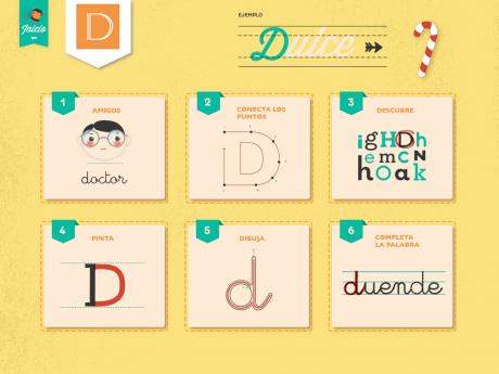 Pagina de actividades de la letra D