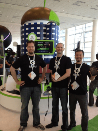 Moai team at the Google IO