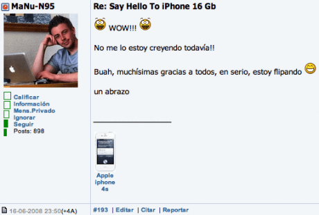 Ganador iPhone 2G