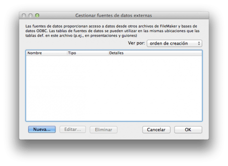 FileMaker 12 Datos Externos