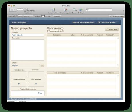 FileMaker Imagen plantilla