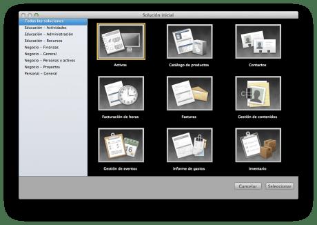 FileMaker 12 Plantillas