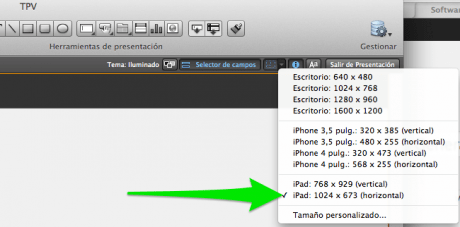 TPV para iPad en FileMaker
