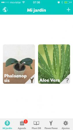 Vista principal de la app Flower Power