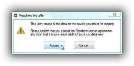 RasBMC Mesage Installer