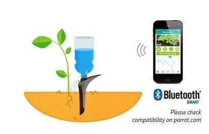 #CES 2015 _ Flower Power H2O, the smart sensor that waters your plant when you are away. | Parrot news