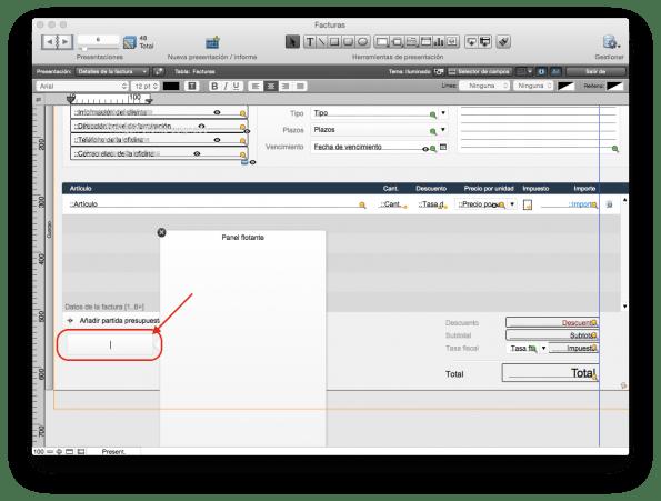 FileMaker panel flotante