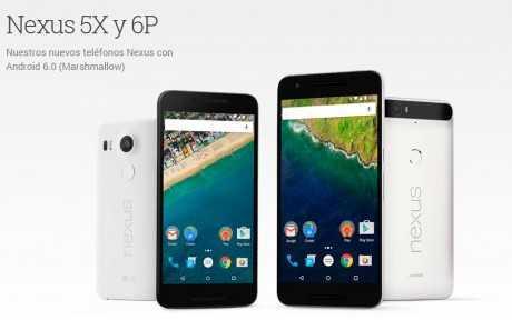 imagen del Nexus 5X y Nexus 6P