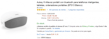 Aukey altavoz