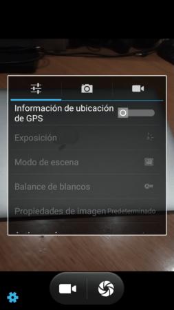 Interfaz Camara ZTE BLADE V6