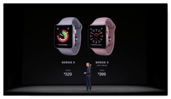 Apple Watch series 3 precios